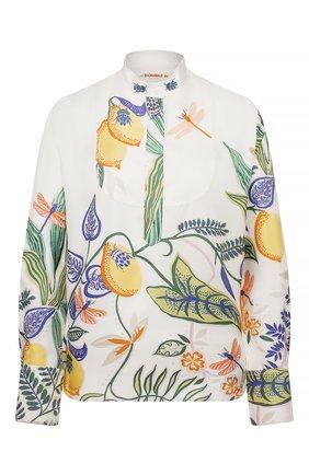 Женская шелковая рубашка LA DOUBLEJ белого цвета, арт. SHI0049-SIL006-B0T0001_ED20 | Фото 1