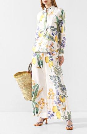 Женская шелковая рубашка LA DOUBLEJ белого цвета, арт. SHI0049-SIL006-B0T0001_ED20 | Фото 2