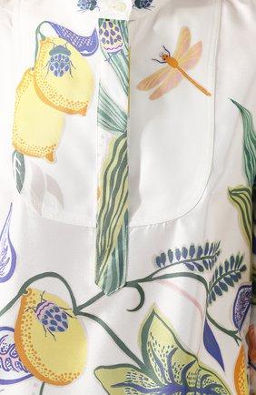 Женская шелковая рубашка LA DOUBLEJ белого цвета, арт. SHI0049-SIL006-B0T0001_ED20 | Фото 5