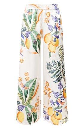 Женские шелковые брюки LA DOUBLEJ белого цвета, арт. TR00026-SIL006-B0T0001_ED20 | Фото 1