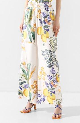 Женские шелковые брюки LA DOUBLEJ белого цвета, арт. TR00026-SIL006-B0T0001_ED20 | Фото 3
