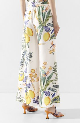 Женские шелковые брюки LA DOUBLEJ белого цвета, арт. TR00026-SIL006-B0T0001_ED20 | Фото 4