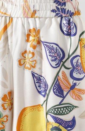 Женские шелковые брюки LA DOUBLEJ белого цвета, арт. TR00026-SIL006-B0T0001_ED20 | Фото 5