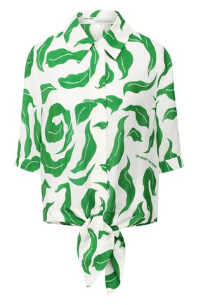 Женская рубашка из смеси вискозы и шелка OFF-WHITE белого цвета, арт. 0WGA069R20H150900140 | Фото 1