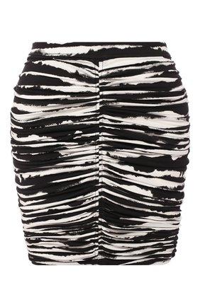 Женская хлопковая юбка BURBERRY черного цвета, арт. 4564119 | Фото 1