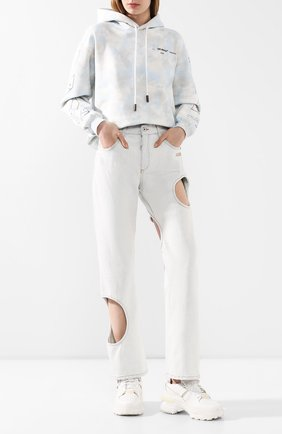 Женские джинсы OFF-WHITE голубого цвета, арт. 0WYA018S20DEN0014000 | Фото 2