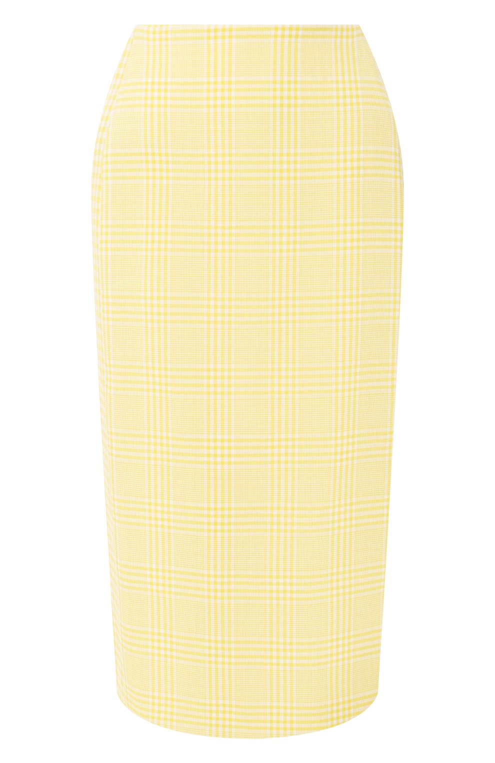 Женская хлопковая юбка BOSS желтого цвета, арт. 50424629 | Фото 1