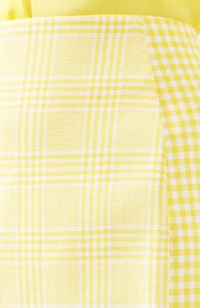 Женская хлопковая юбка BOSS желтого цвета, арт. 50424629 | Фото 5
