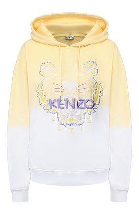 Женская хлопковое худи KENZO желтого цвета, арт. FA52SW8674XG | Фото 1