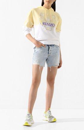 Женская хлопковое худи KENZO желтого цвета, арт. FA52SW8674XG | Фото 2