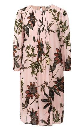 Женское платье из вискозы DOROTHEE SCHUMACHER розового цвета, арт. 749103/FL0RAL TRANSPARE | Фото 1