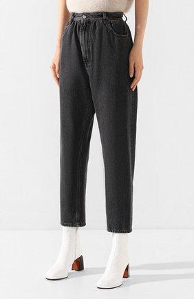 Женские джинсы MM6 серого цвета, арт. S32LA0209/S30652 | Фото 3