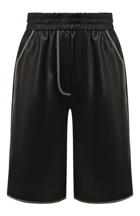 Женские шорты NANUSHKA черного цвета, арт. Y0LIE_BLACK_VEGAN LEATHER | Фото 1