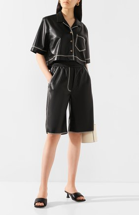 Женские шорты NANUSHKA черного цвета, арт. Y0LIE_BLACK_VEGAN LEATHER | Фото 2