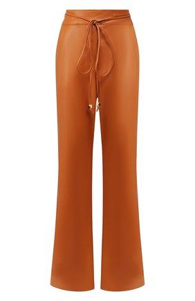 Женские брюки NANUSHKA оранжевого цвета, арт. CHIM0_BURNT 0RANGE_VEGAN LEATHER   Фото 1
