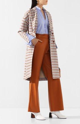 Женские брюки NANUSHKA оранжевого цвета, арт. CHIM0_BURNT 0RANGE_VEGAN LEATHER   Фото 2