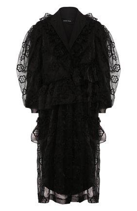 Женское пальто SIMONE ROCHA черного цвета, арт. 3288P/0350 | Фото 1