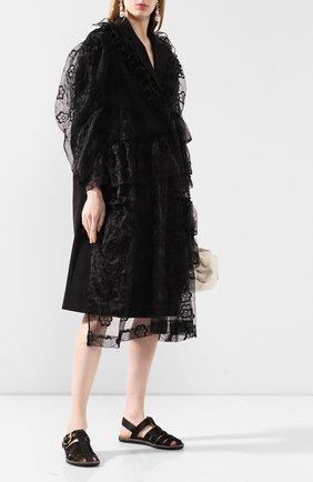 Женское пальто SIMONE ROCHA черного цвета, арт. 3288P/0350 | Фото 2