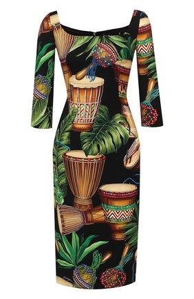 Женское шелковое платье DOLCE & GABBANA разноцветного цвета, арт. F6F5PT/FSAZ7 | Фото 1