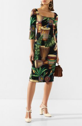 Женское шелковое платье DOLCE & GABBANA разноцветного цвета, арт. F6F5PT/FSAZ7 | Фото 2