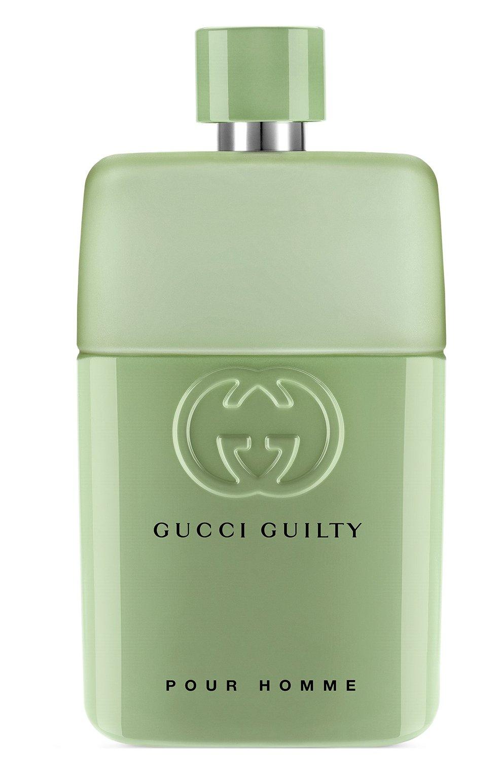Мужской туалетная вода gucci guilty pour homme love edition GUCCI бесцветного цвета, арт. 3614225299636   Фото 1 (Ограничения доставки: flammable)
