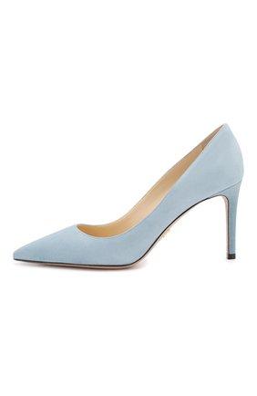 Женская замшевые туфли PRADA голубого цвета, арт. 1I834I-8-F0637-85 | Фото 2