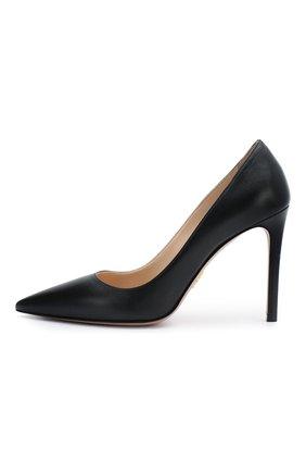 Женская кожаные туфли PRADA черного цвета, арт. 1I834I-11-F0002-100   Фото 2