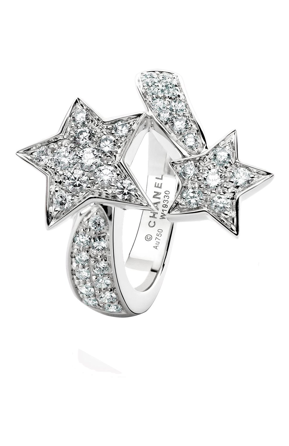 Женские кольцо CHANEL белого золота цвета, арт. J0387 | Фото 1