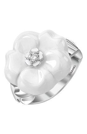 Женские кольцо CHANEL белого золота цвета, арт. J10007 | Фото 1