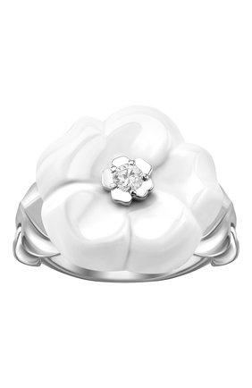 Женские кольцо CHANEL белого золота цвета, арт. J10007 | Фото 2