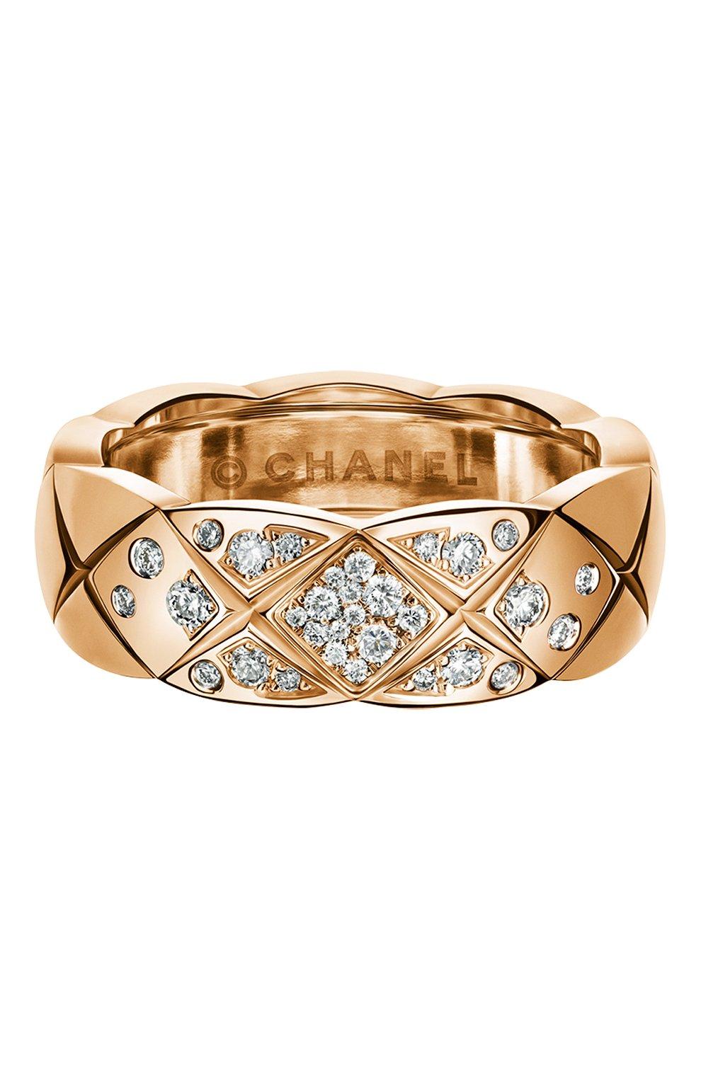 Женские кольцо CHANEL розового золота цвета, арт. J11101   Фото 1