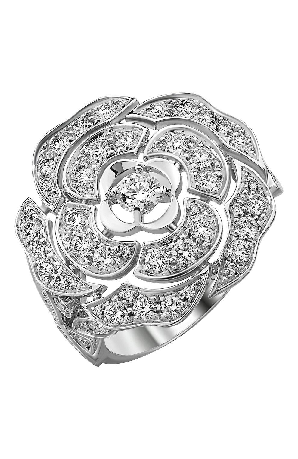 Женские кольцо CHANEL белого золота цвета, арт. J11182 | Фото 1