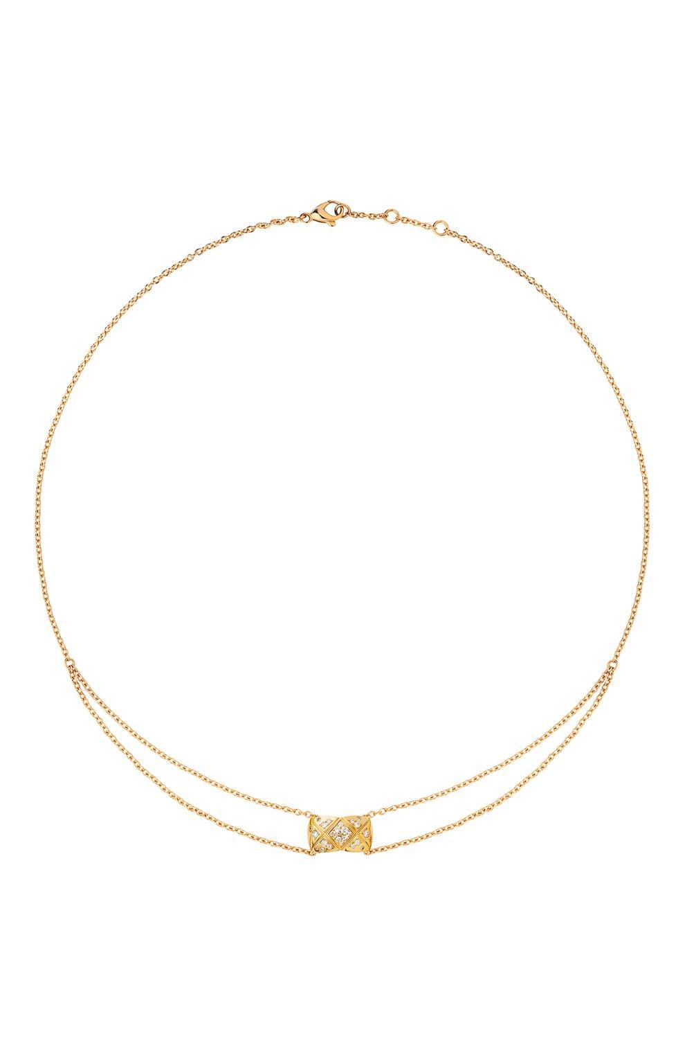 Женские колье CHANEL желтого золота цвета, арт. J11358 | Фото 1