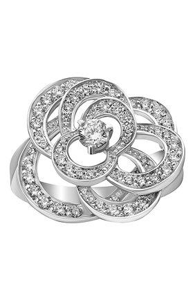 Женские кольцо CHANEL белого золота цвета, арт. J2579 | Фото 2