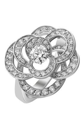Женские кольцо CHANEL белого золота цвета, арт. J2671 | Фото 1