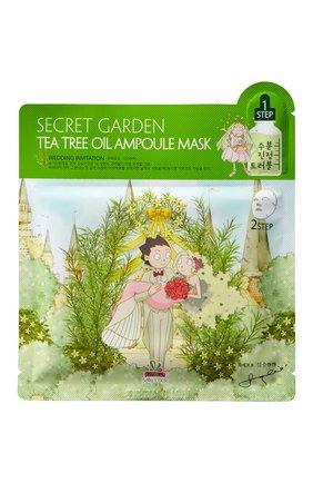Двухфазная тканевая маска tea tree oil ULTRU бесцветного цвета, арт. 8809208133563   Фото 1