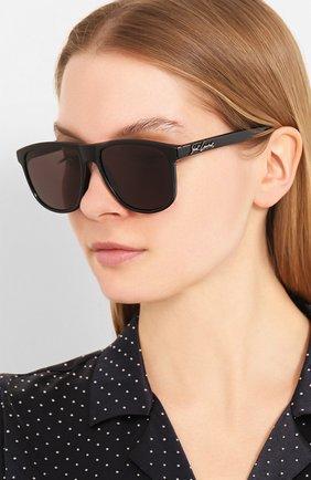 Мужские солнцезащитные очки SAINT LAURENT черного цвета, арт. SL 334 | Фото 2