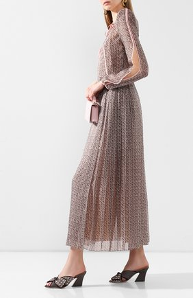 Женские текстильные мюли FENDI бежевого цвета, арт. 8R7031 AADC | Фото 2