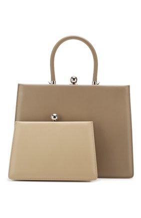 Женская сумка twin frame RATIO ET MOTUS бежевого цвета, арт. REM20SSTFER/M0-SL | Фото 1