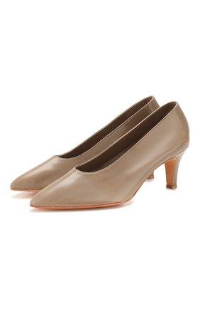 Женская кожаные туфли MARTINIANO серого цвета, арт. 034/PARTY/KID LEATHER   Фото 1