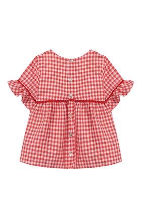 Детский хлопковая блузка TARTINE ET CHOCOLAT кораллового цвета, арт. TQ12051/18M-3A | Фото 2