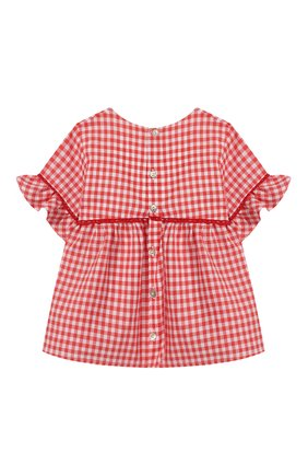 Детский хлопковая блузка TARTINE ET CHOCOLAT кораллового цвета, арт. TQ12051/1M-1A | Фото 2