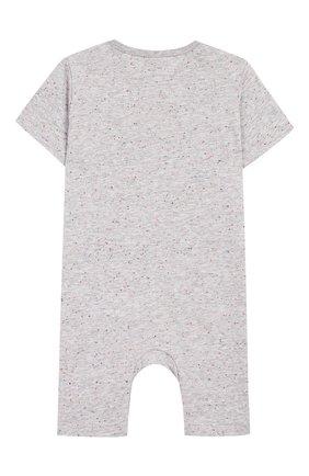 Детский хлопковый комбинезон STELLA MCCARTNEY серого цвета, арт. 588344/S0J92 | Фото 2