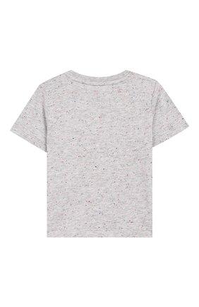 Детский хлопковая футболка STELLA MCCARTNEY серого цвета, арт. 588361/S0J92 | Фото 2