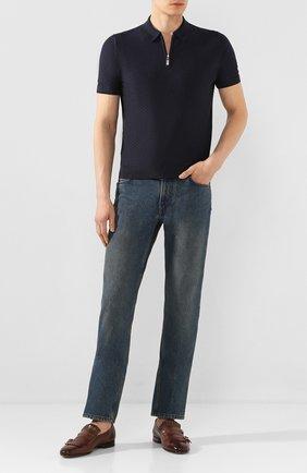 Мужские кожаные монки SANTONI коричневого цвета, арт. MCNC13663LA3SDPSM52 | Фото 2