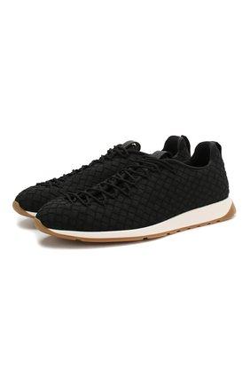 Мужские текстильные кроссовки BOTTEGA VENETA черного цвета, арт. 609915/V0045 | Фото 1
