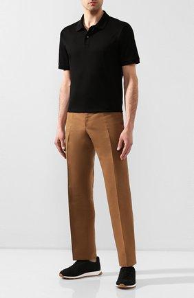 Мужские текстильные кроссовки BOTTEGA VENETA черного цвета, арт. 609915/V0045 | Фото 2