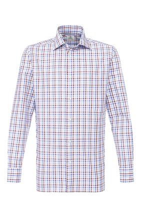 Мужская хлопковая сорочка LUIGI BORRELLI синего цвета, арт. EV08/LUCIAN0/TS9066 | Фото 1