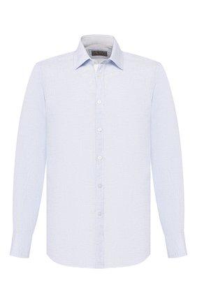 Мужская льняная рубашка CANALI голубого цвета, арт. L779/GH00406 | Фото 1