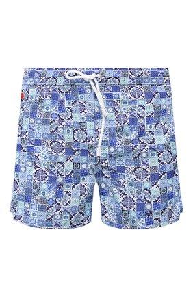 Детского плавки-шорты KITON синего цвета, арт. UC0M2CX08S14 | Фото 1